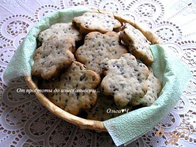 Рецепт Кунжутное печенье с отрубями на пиве