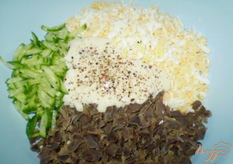 Фото приготовление рецепта: Салат из куриных желудков шаг №2