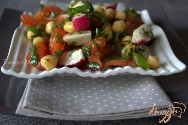 Рецепт Овощной салат с нутом и зеленью