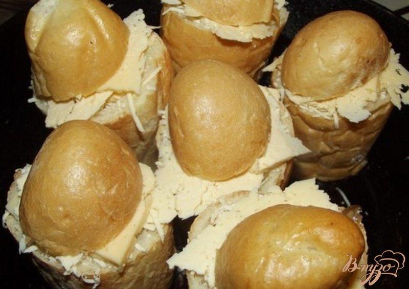Фото приготовление рецепта: Закусочные пенечки с грибами шаг №7