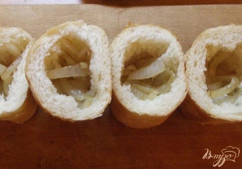 Фото приготовление рецепта: Закусочные пенечки с грибами шаг №3