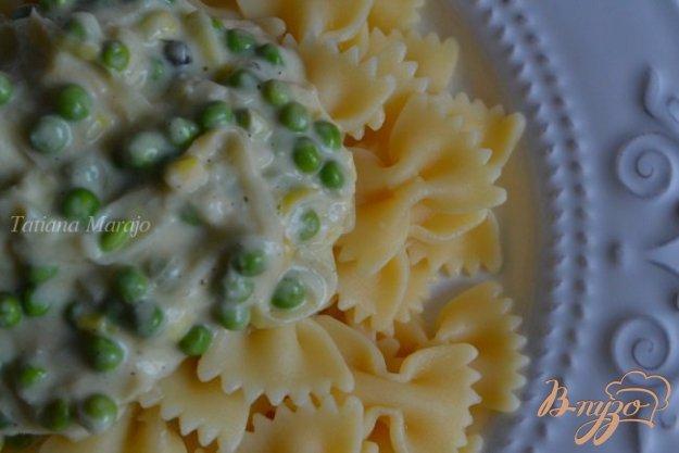 фото рецепта: Соус из порея с зеленым горошком