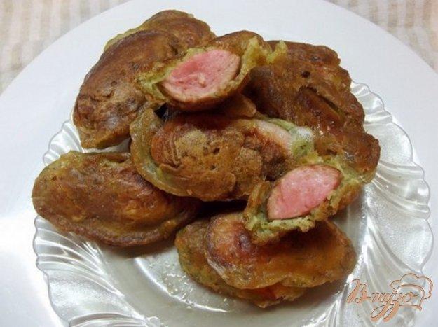 фото рецепта: Сосиски в чесночном кляре