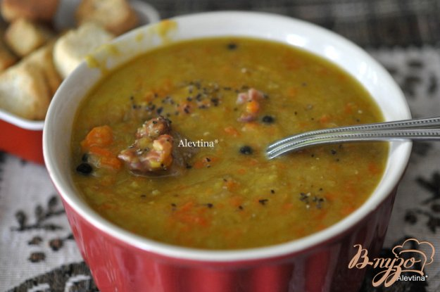 фото рецепта: Воскресный гороховый суп с ветчиной