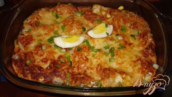 Рецепт Курица, запеченная с гречневой кашей в духовке