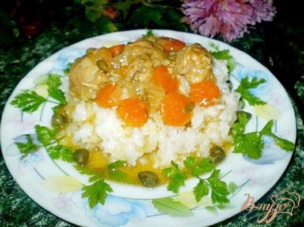 Рецепт Свинина тушенная в вине с каперсами и овощами