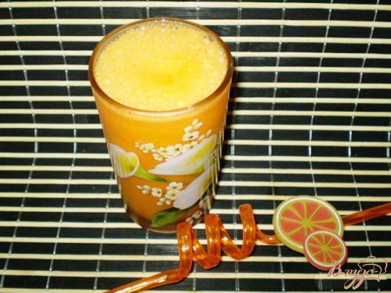 Фото приготовление рецепта: Сок тыквенно-морковно-апельсиновый шаг №4