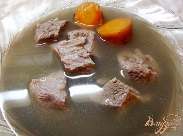 фото рецепта: Мясо с горячим овощным бульоном