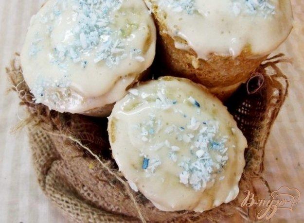 фото рецепта: Кокосовые кексы с кремом