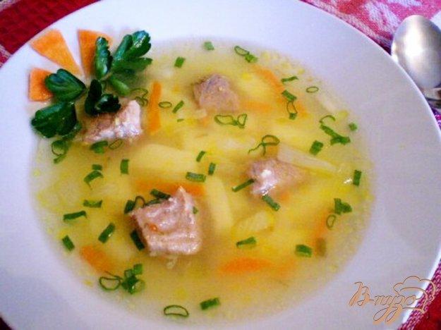 фото рецепта: Суп картофельный с кукурузной крупой