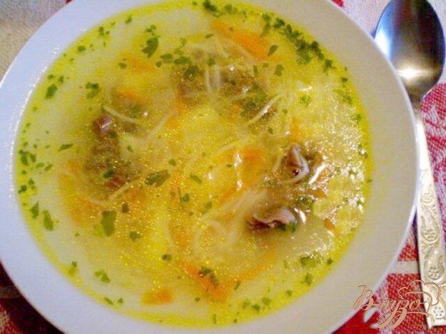 фото рецепта: Суп с вермишелью и желудками