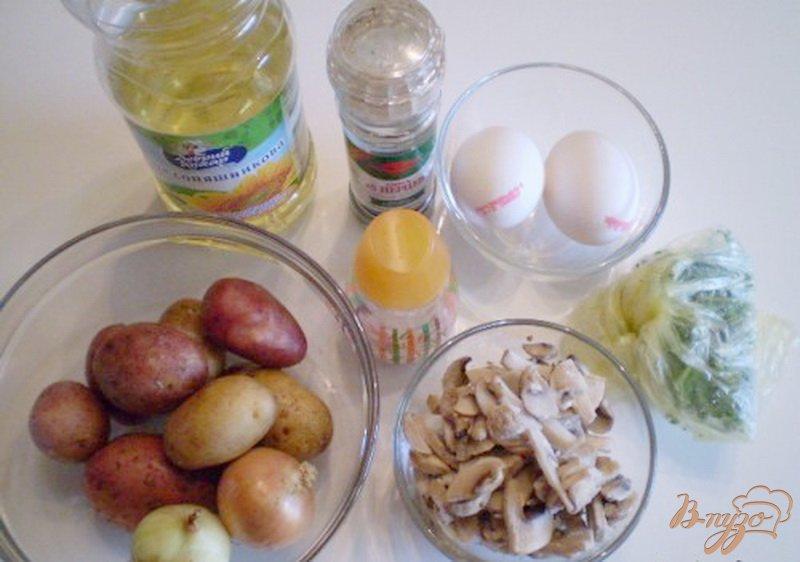 Фото приготовление рецепта: Суп с грибами и омлетом шаг №1