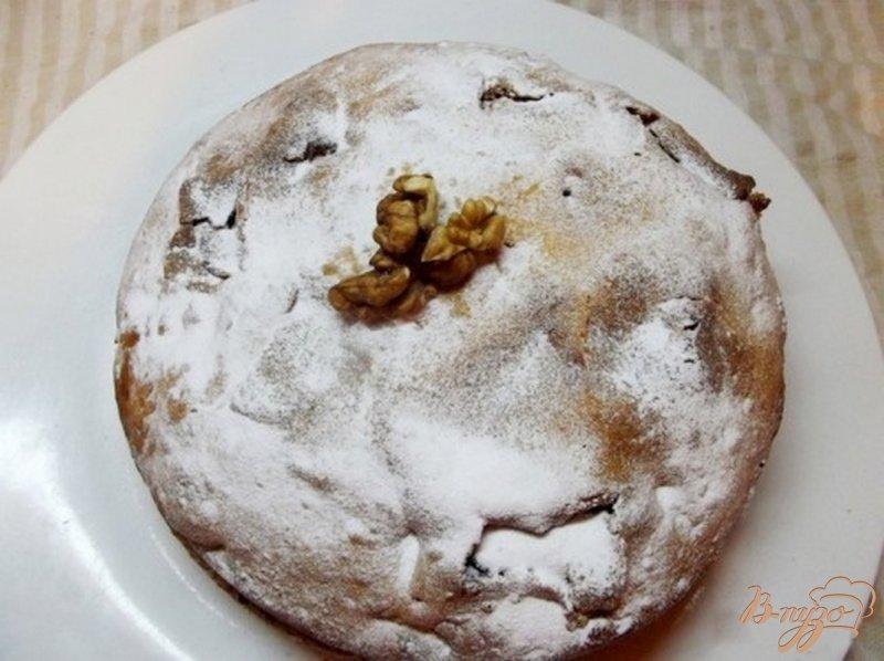 Фото приготовление рецепта: Ореховый пирог с пропиткой шаг №9