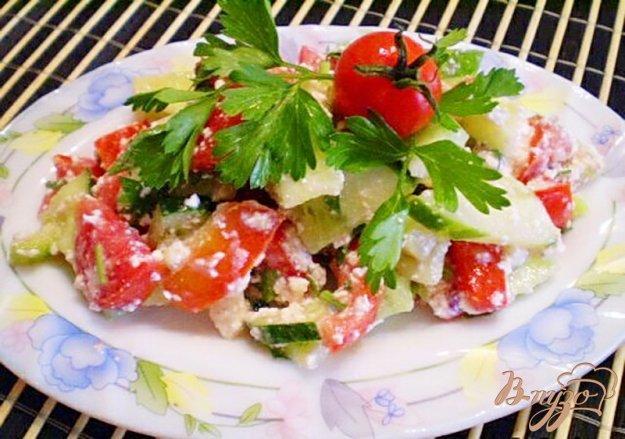 Рецепт Овощной салат с творожной заправкой