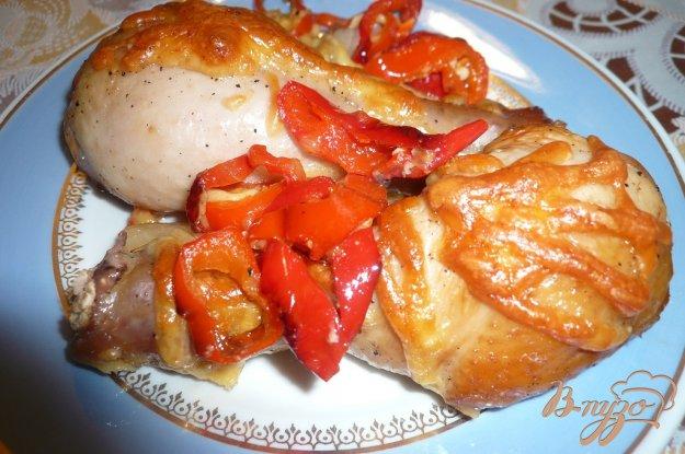Рецепт Куриные голени запеченные с болгарским перцем