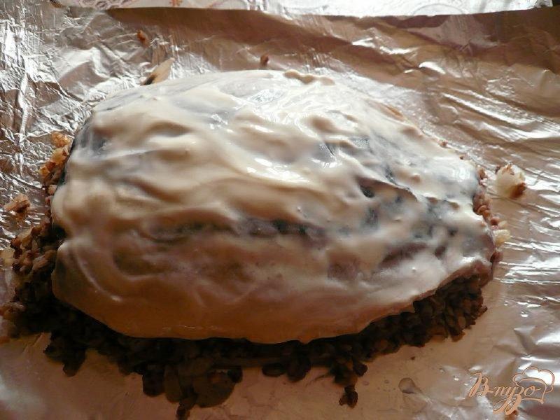 Фото приготовление рецепта: Скумбрия с гречневой кашей шаг №5