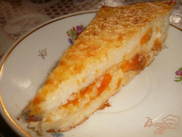 Рецепт Рисовая запеканка с курагой