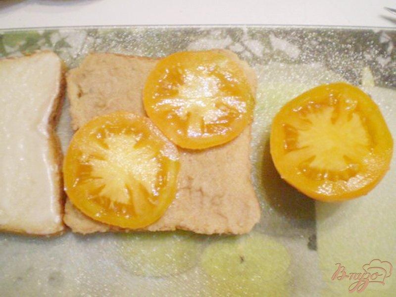 Фото приготовление рецепта: Сэндвич с мясным паштетом шаг №3