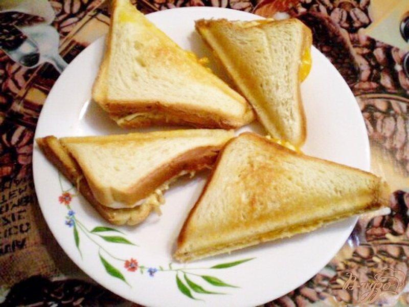 Фото приготовление рецепта: Сэндвич с мясным паштетом шаг №6