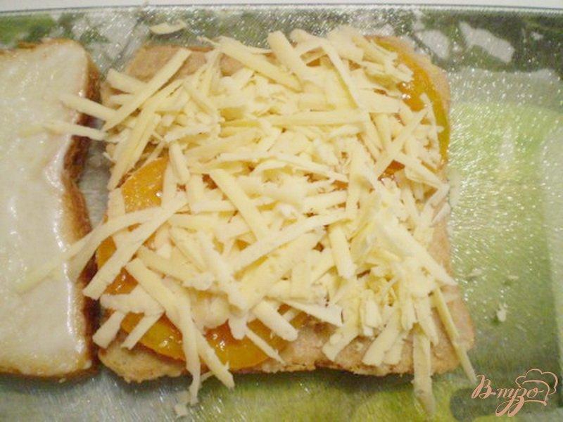 Фото приготовление рецепта: Сэндвич с мясным паштетом шаг №4