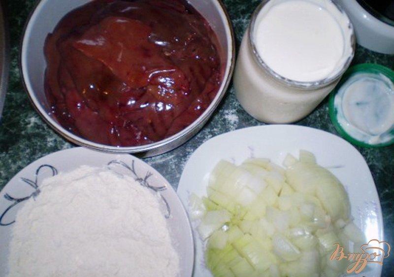 Фото приготовление рецепта: Утиная печень в сметане шаг №1