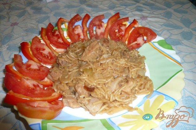 фото рецепта: Вермишель жареная с мясом