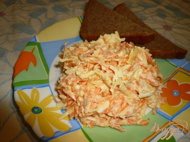 Рецепт Салат из колбасного сыра и моркови