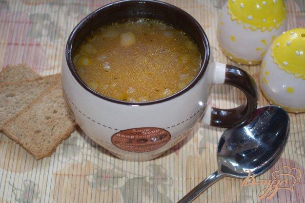 фото рецепта: Крупяной суп с копченой курицей