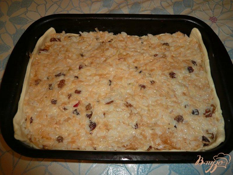 Сладкий пирог рис с изюмом