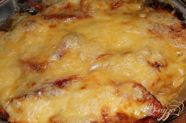 Рецепт Мясо под шубкой из овощей и сыра