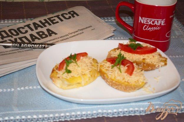 Рецепт Французские гренки с сыром, помидором и зеленью