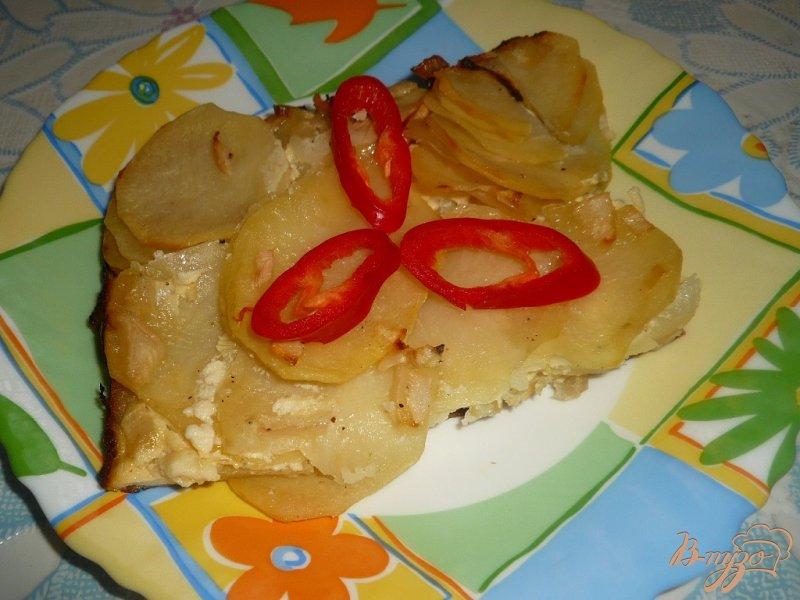 Фото приготовление рецепта: Картофель запеченный под сметанным соусом шаг №8