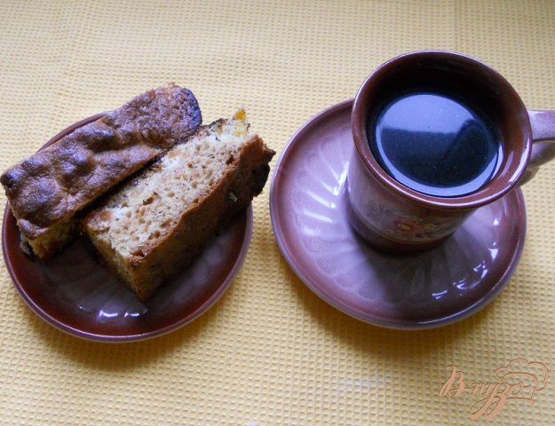 Рецепт Пирог на киселе с изюмом и курагой