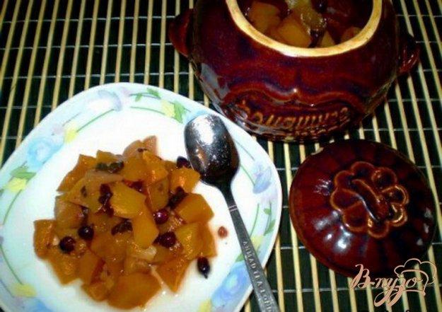 Рецепт Тыква томленная с ягодами и фруктами