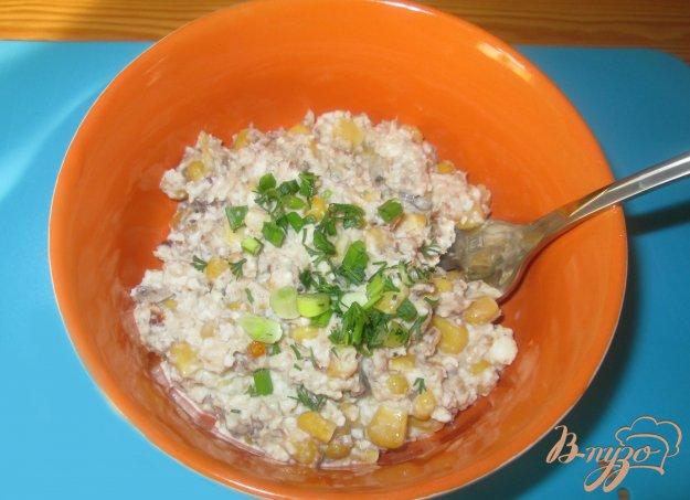 Рецепт Салат с сардинами и кукурузой