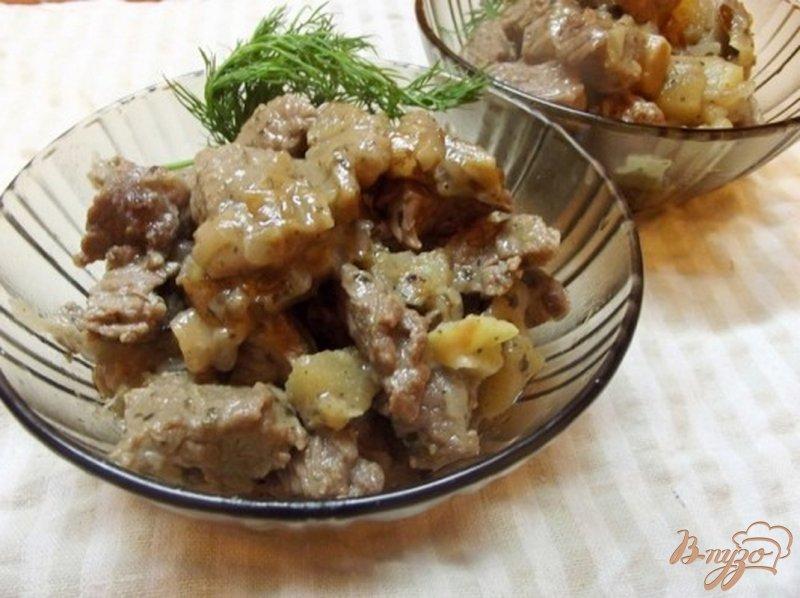 Фото приготовление рецепта: Нежное мясо с фруктами шаг №8