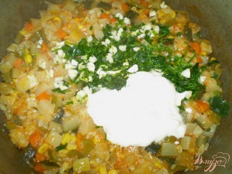 Фото приготовление рецепта: Цукини с овощами шаг №6