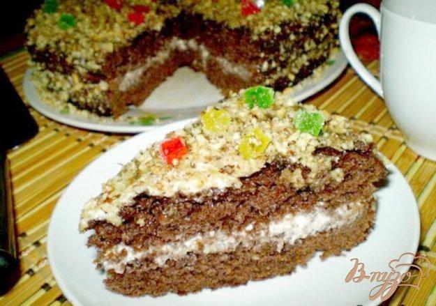 Рецепт Шоколадный пирог со сметанно-ореховым кремом