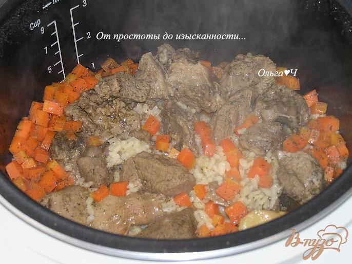 Фото приготовление рецепта: Плов с бараниной (в мультиварке) шаг №4
