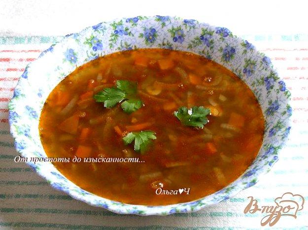 фото рецепта: Томатный суп с чечевицей