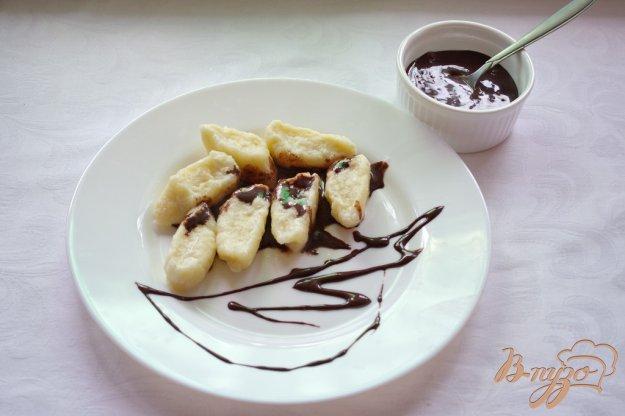 Рецепт Ленивые вареники с шоколадным соусом