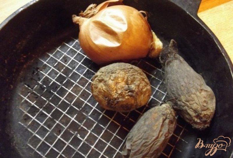Фото приготовление рецепта: Борщ из печеных овощей шаг №4