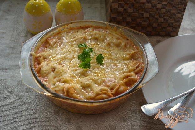 Рецепт Запеченые пельмени в томатном соусе