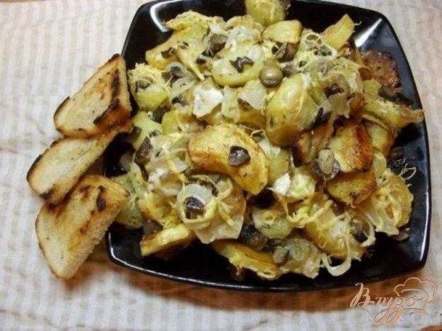 Картопля запечена з грибами. Як приготувати з фото