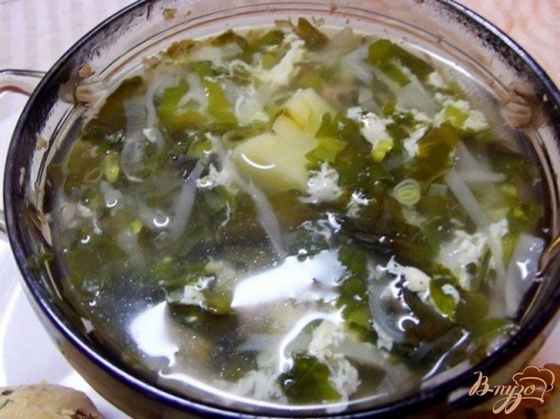 Фото приготовление рецепта: Суп весенний из зелени шаг №6