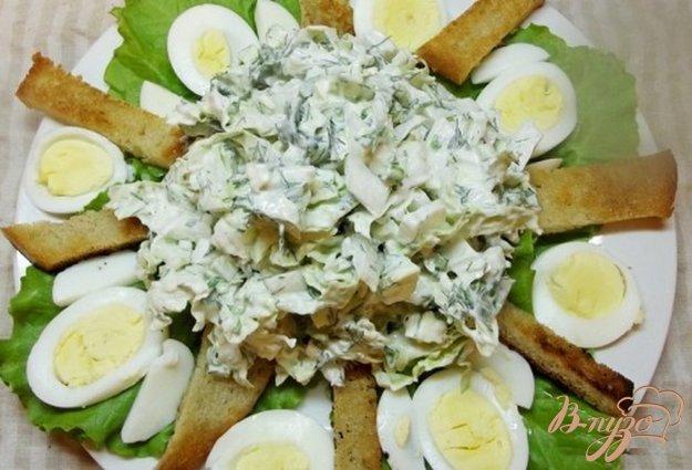 Рецепт Овощной салат с гренками