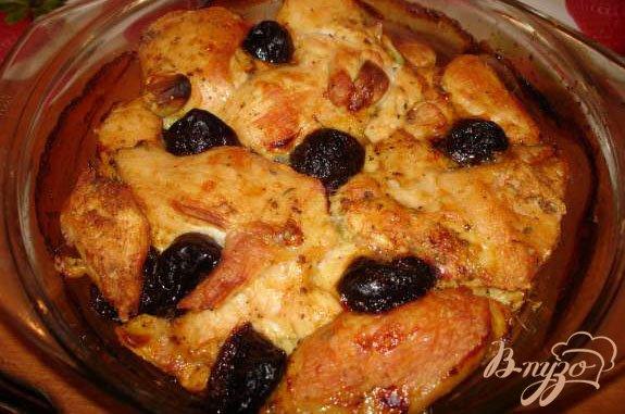 Рецепт Курица с черносливом в банке(стеклянной кастоюле)