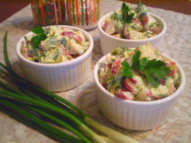 Рецепт Редисковый салат со сметаной