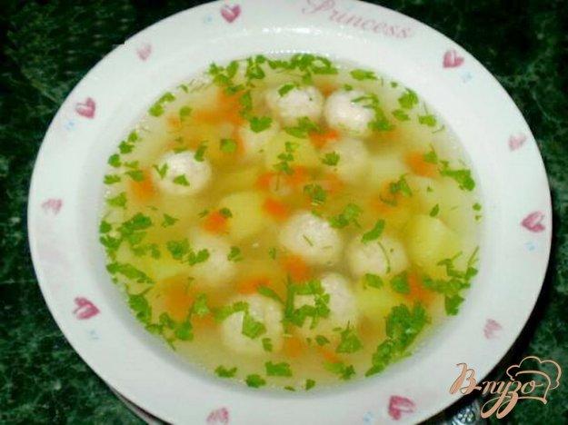 фото рецепта: Диетический суп с фрикадельками
