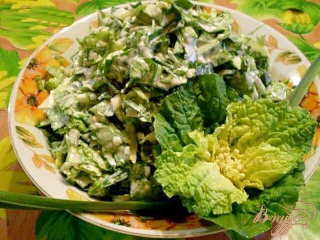 Рецепт Пекинская капуста с яйцами и зеленым чесноком